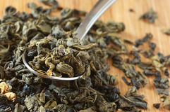 Gearomatiseerde groene thee Stock Afbeelding