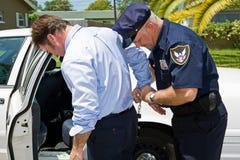 Gearresteerd in Publiek Royalty-vrije Stock Foto's