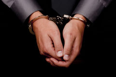 Gearresteerd voor het vragen Royalty-vrije Stock Afbeeldingen