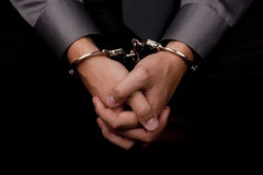 Gearresteerd voor het vragen Royalty-vrije Stock Afbeelding
