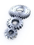 Gears. Metal Gears on white surface Stock Image