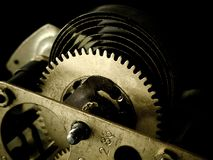 Gears. Clockwork, gears and screws. Mechanical structure royalty free stock images