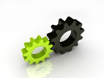 Gears. Green and black abstract gears Stock Photo