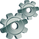 Gears. Over white. EPS 8 Stock Images