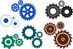 Gears. Illustration art of a gears with isolated background Royalty Free Stock Photography