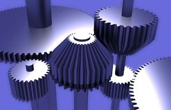 Gears. Three-dimensional composition from gears Stock Photography
