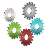 Gears. Illustration of gears on white background Stock Image