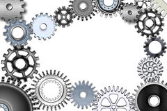 Gears. Lot of mechanic gears and wheels 3d Royalty Free Stock Images