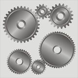 Gears. Black-and-white gears. A part of the mechanism stock illustration