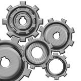 Gears. On a white background vector illustration