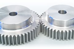 Gears. Synchronized gears for work in team Stock Photography