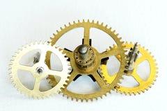 Gears. Brass gears from inside a clock Royalty Free Stock Image