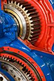 Gears. Inner parts of an powerful naval engine Stock Images