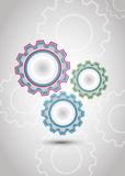 Gears. Colour gears in abstract background Stock Images