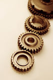 Gears. Metal cog gears joining together Royalty Free Stock Photo
