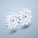 Gears 3d icon Royalty Free Stock Photo