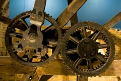 Gears. Closeup photo of old machinery gears Royalty Free Stock Image