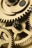 Gears. A clockwork gears  - closeup of a mechanism Stock Image