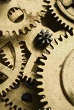 Gears. A clockwork gears  - closeup of a mechanism Royalty Free Stock Images
