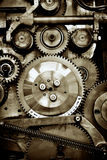 Gears. Closeup view of gears from a mechanism Stock Photography