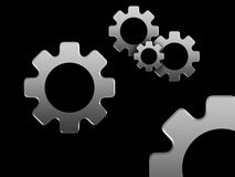 Gears. Illustration showing gears, useful for business related images stock illustration