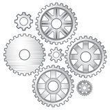 Gears. Set of vector metall gears Royalty Free Stock Photography