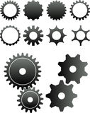 Gears. 2D abstract art vector illustration. Gears Royalty Free Stock Photography