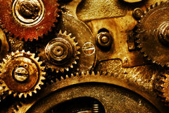 Gears. Closeup view of gears from a mechanism Stock Photos