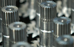 Gears. Steel casting Stock Image