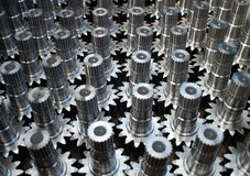 Gears. Cog wheels as spares for some machines royalty free stock photos