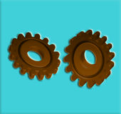 Gears 7 Cogs Stock Photography