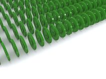 Gears. Many green gears on white. 3d Stock Photography