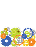 Gears. Various gears are featured in an abstract background illustration Royalty Free Stock Photos