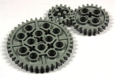 Gears. Close-up of isolated gears Stock Images