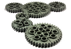 Gears. Close-up of isolated gears Royalty Free Stock Photography