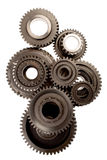 Gears. Metal gears on white background Stock Photos