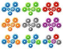 Gears. Vector illustration of gears set stock illustration