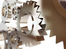 Gears abstract background Stock Photo