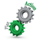 Gears Action Plan Stock Image