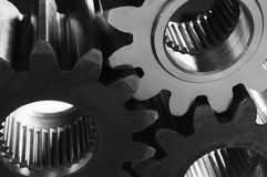 Gears against the light Royalty Free Stock Photography