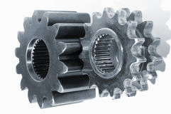 Gears against white background Royalty Free Stock Images