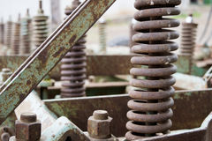 Gears of agricultural machinery Royalty Free Stock Photos