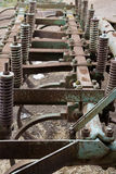 Gears of agricultural machinery Royalty Free Stock Images