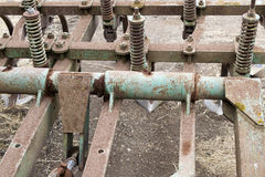 Gears of agricultural machinery Stock Images