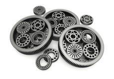 Gears aluminium Stock Images