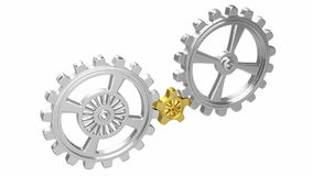Gears Animation - Solution Royalty Free Stock Photo