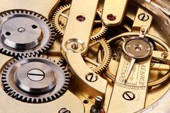 Gears of antique pocket watch Stock Photos