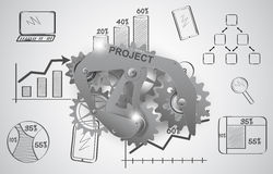 Gears as a design element. Royalty Free Stock Image