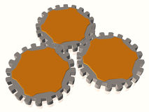 Gears as text boxes. Illustration about Bussines concepts - gears as text boxes - 3D Royalty Free Stock Photos