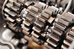 Gears on axle. Stock Image